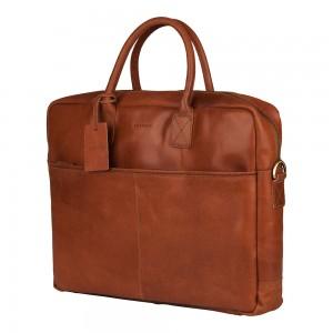 Pánská kožená taška na notebook Burkely Max - koňak