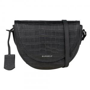 Dámská crossbody kožená kabelka Burkely Moon - černá