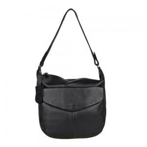 Dámská kožená kabelka přes rameno Burkely Hobo - černá