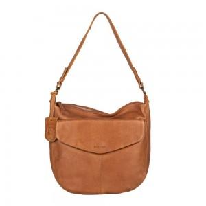 Dámská kožená kabelka přes rameno Burkely Hobo - koňak