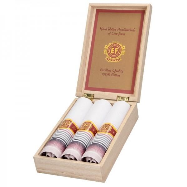 Pánské kapesníky v luxusní sadě ETEX Valda - bílo-fialová