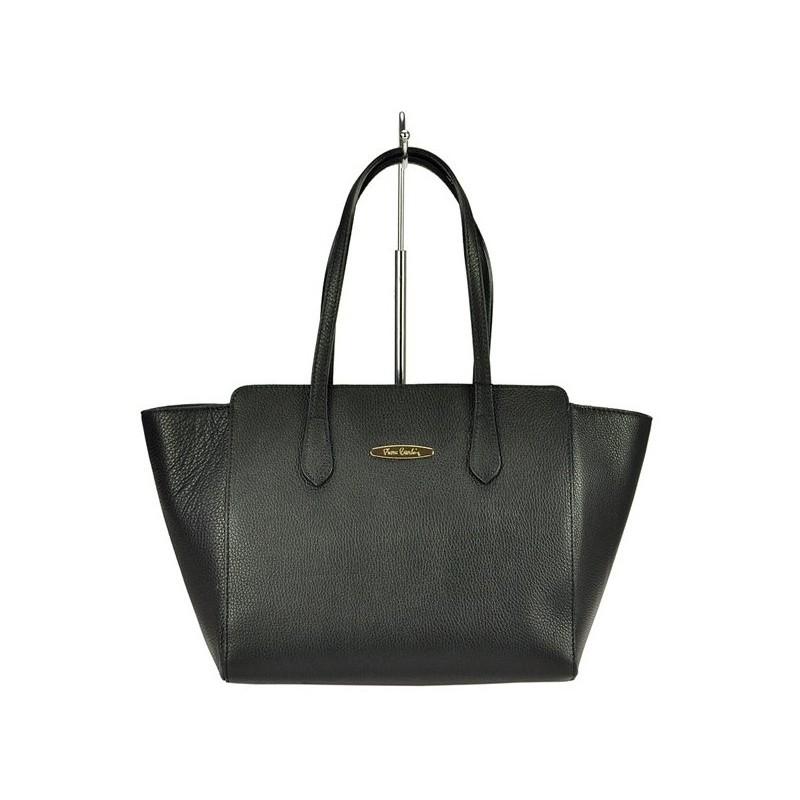 Dámská kožená kabelka Pierre Cardin Emilie - černá a41088906da