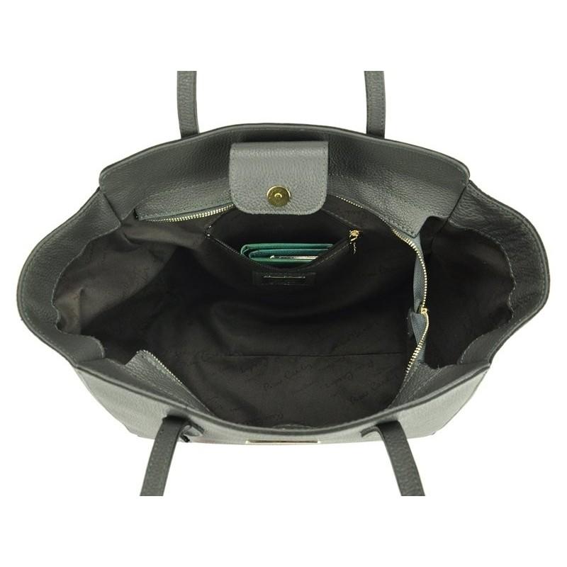 Dámská kožená kabelka Pierre Cardin Emilie - černá