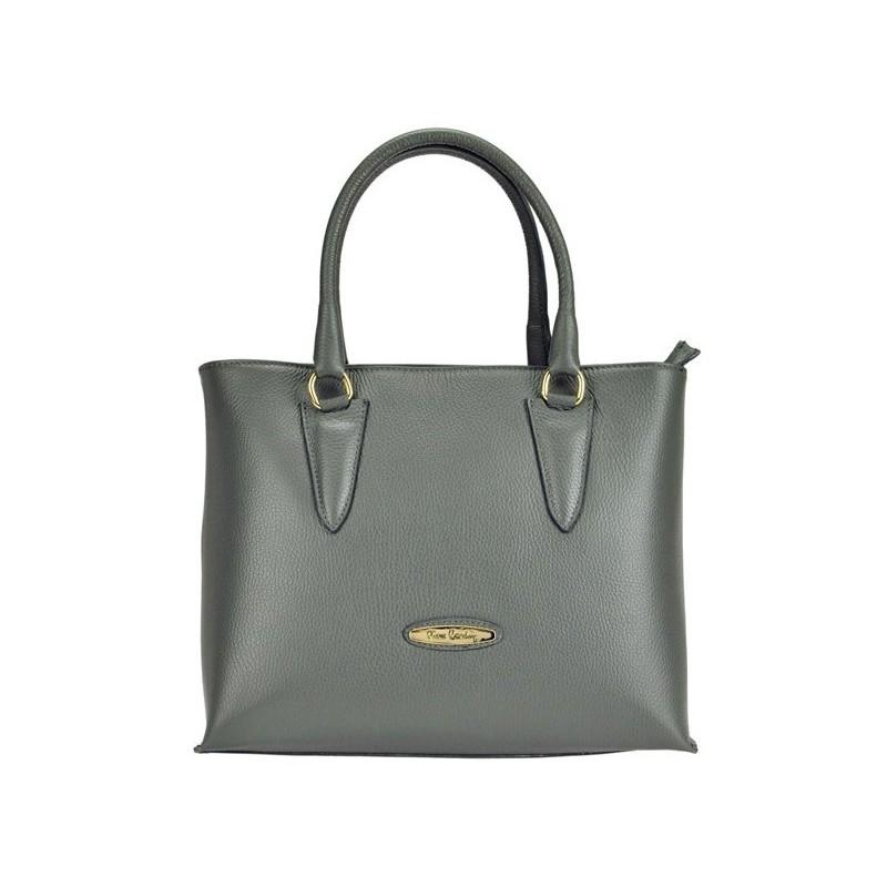 Dámská kožená kabelka Pierre Cardin Annie - šedá 77d2a7f9bf8