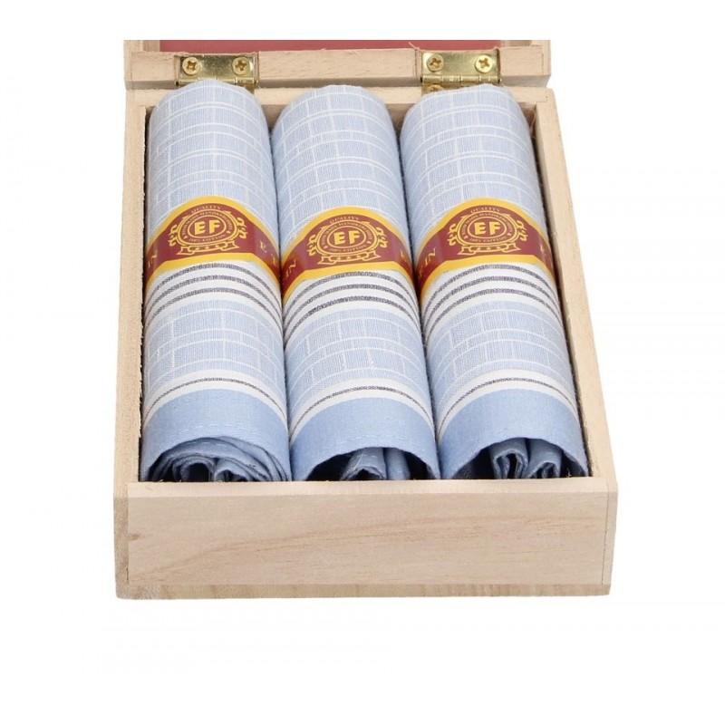 Pánské kapesníky v luxusní sadě ETEX Guro - modrá