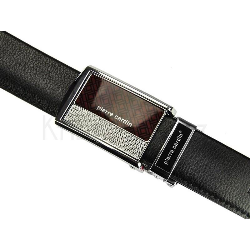 Kožený pánský opasek Pierre Cardin 50061 - šedá