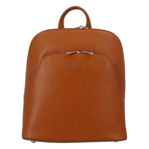 Módní dámský batoh David Jones Venla - koňak