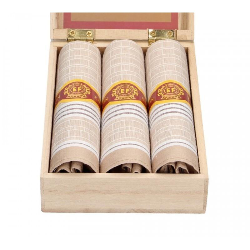 Pánské kapesníky v luxusní sadě ETEX Alvis - béžová