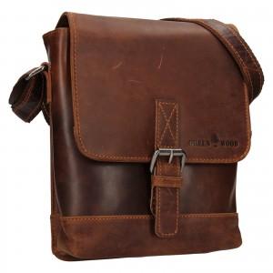 Pánská kožená taška přes rameno Greenwood Fion - hnědá