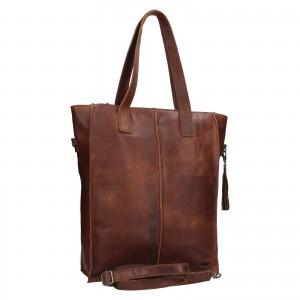 Dámská kožená kabelka Justified Monic - hnědá