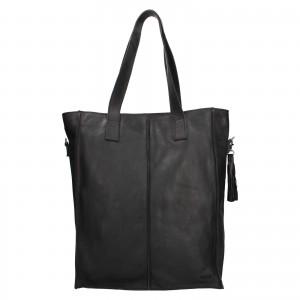 Dámská kožená kabelka Justified Monic - černá