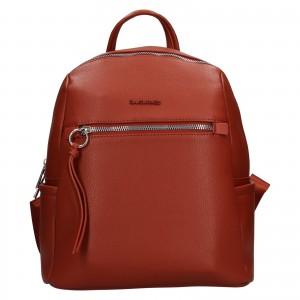 Módní dámský batoh David Jones Sally - oranžovo-hnědá