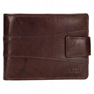 Pánská kožená peněženka Lagen Kevin - tmavě hnědá