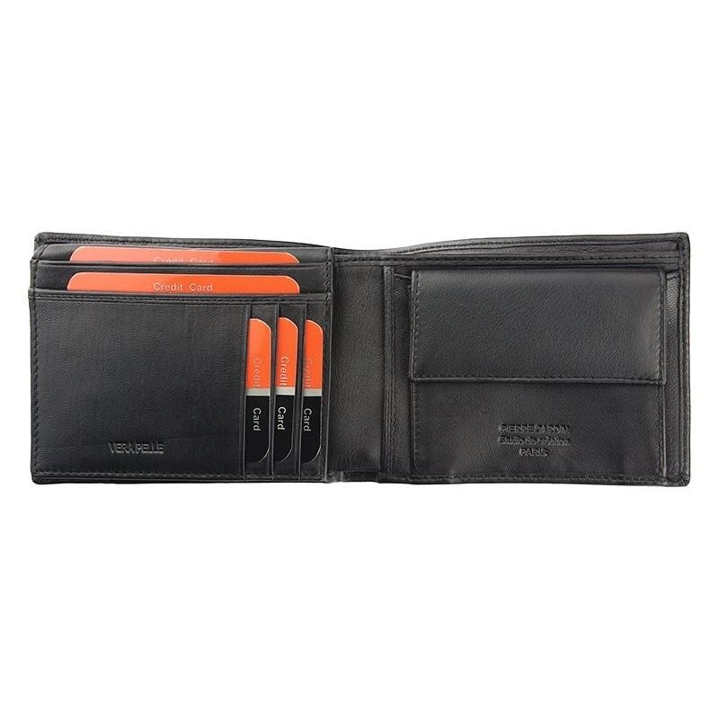 Pánská kožená peněženka Pierre Cardin Elvin - černo-červená