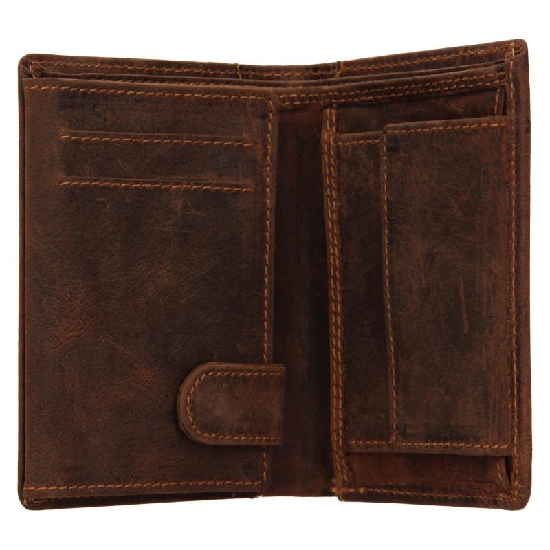 Pánská kožená peněženka Wild Buffalo Daniel - světle hnědá