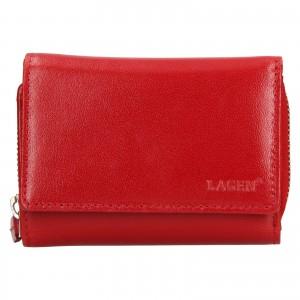 Dámská kožená peněženka Lagen Laura - červená