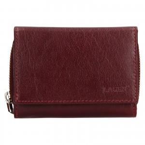 Dámská kožená peněženka Lagen Laura - vínová