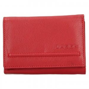 Dámská kožená peněženka Lagen Kateřina - červená