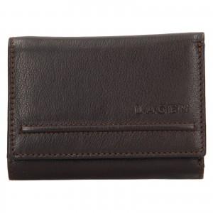 Dámská kožená peněženka Lagen Kateřina - tmavě hnědá