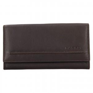 Dámská kožená peněženka Lagen Ludmila - tmavě hnědá