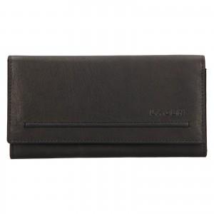 Dámská kožená peněženka Lagen Ludmila - černá