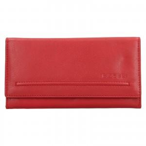 Dámská kožená peněženka Lagen Ludmila - červená