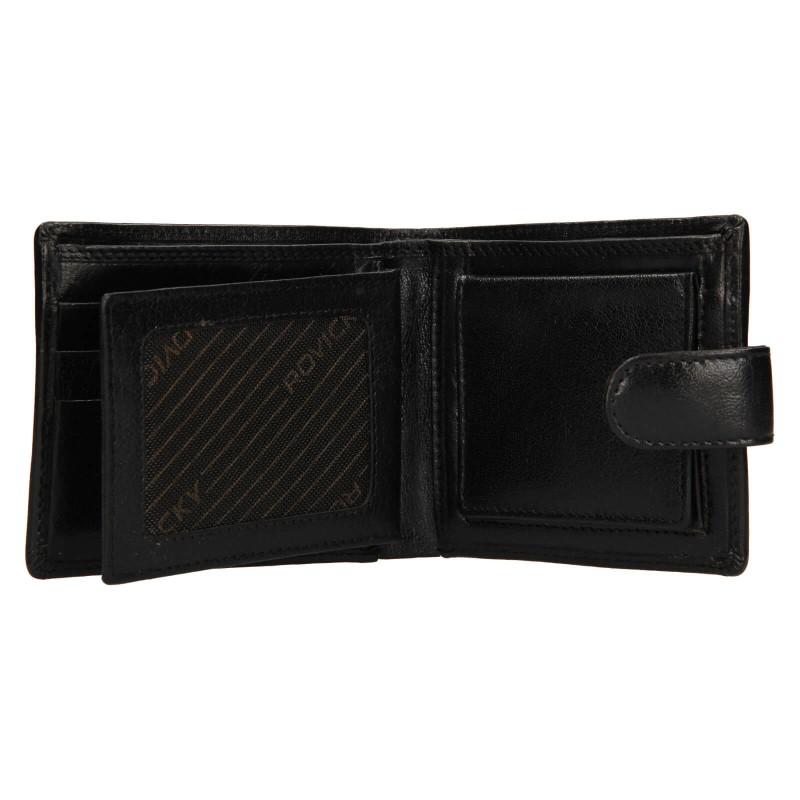 Pánská kožená peněženka Rovicky Oskar - černá