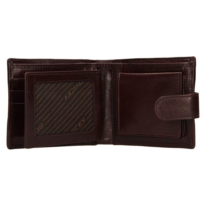 Pánská kožená peněženka Rovicky Oskar - hnědá