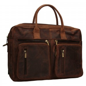 Pánská kožená taška Always Wild Austin - hnědá