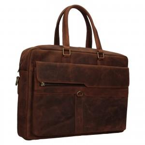 Pánská kožená taška Always Wild Alister - hnědá