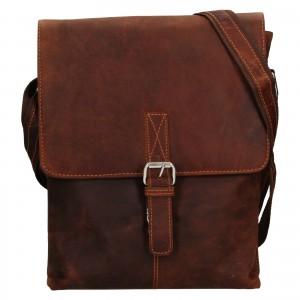 Pánská kožená taška přes rameno Greenwood Ashwn - hnědá
