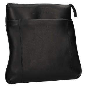 Luxusní kožená panská taška Ripani Vodin - černá