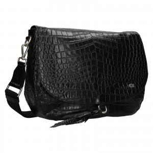 Luxusní dámské kožené crossbody Daag Kaija - černá