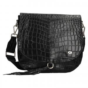 Luxusní dámské kožené crossbody Daag Kaila - černá