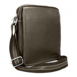 Pánská kožená taška přes rameno SendiDesign IG005 - hnědá