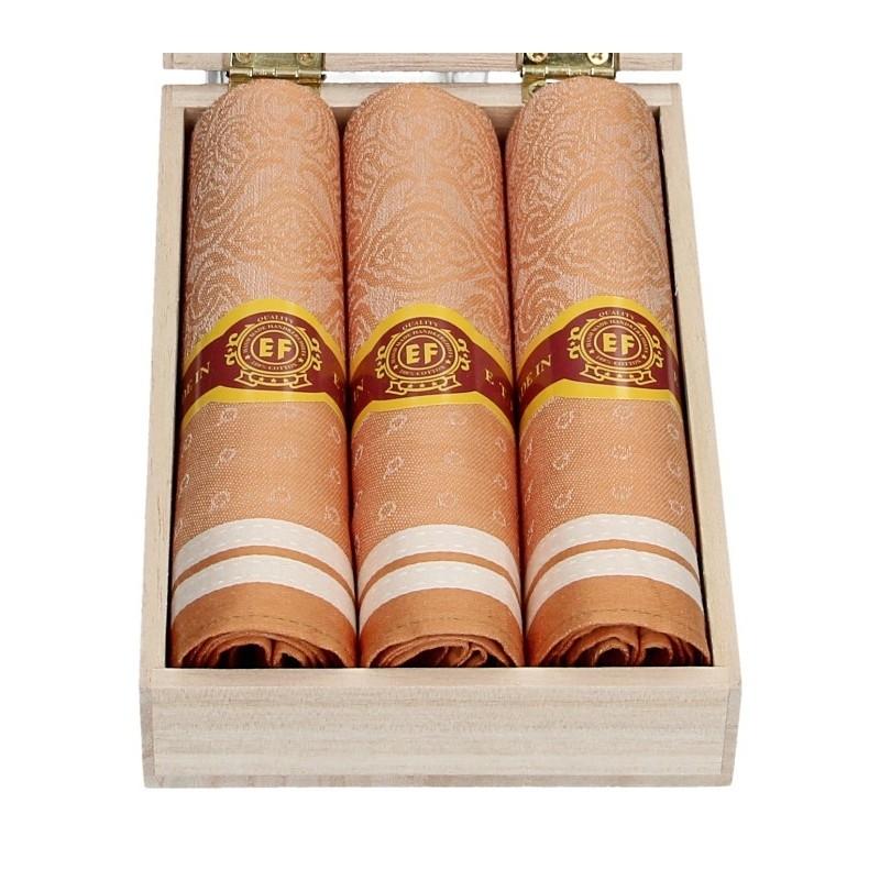 Pánské kapesníky v luxusní sadě ETEX Fido - oranžová