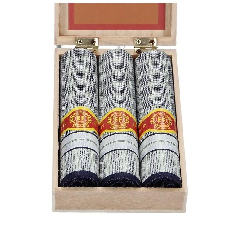 Pánské kapesníky v luxusní sadě ETEX Karol - modrá