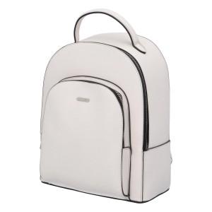 Módní dámský batoh David Jones Milade - bílá