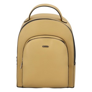 Módní dámský batoh David Jones Milade - žlutá