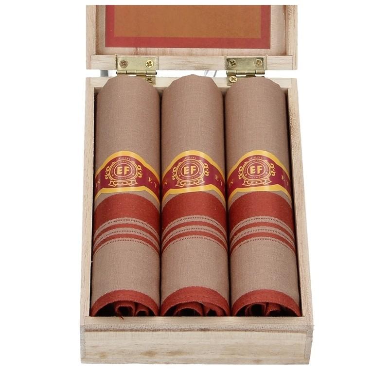 Pánské kapesníky v luxusní sadě ETEX Marco - hnědá