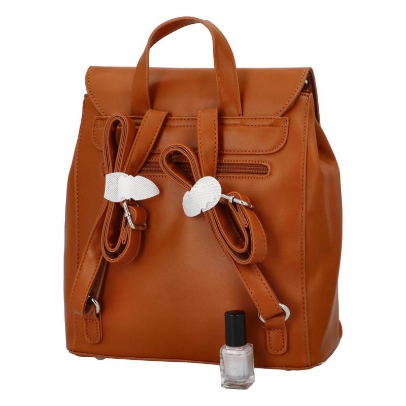 Módní dámský batoh David Jones Dione - koňak