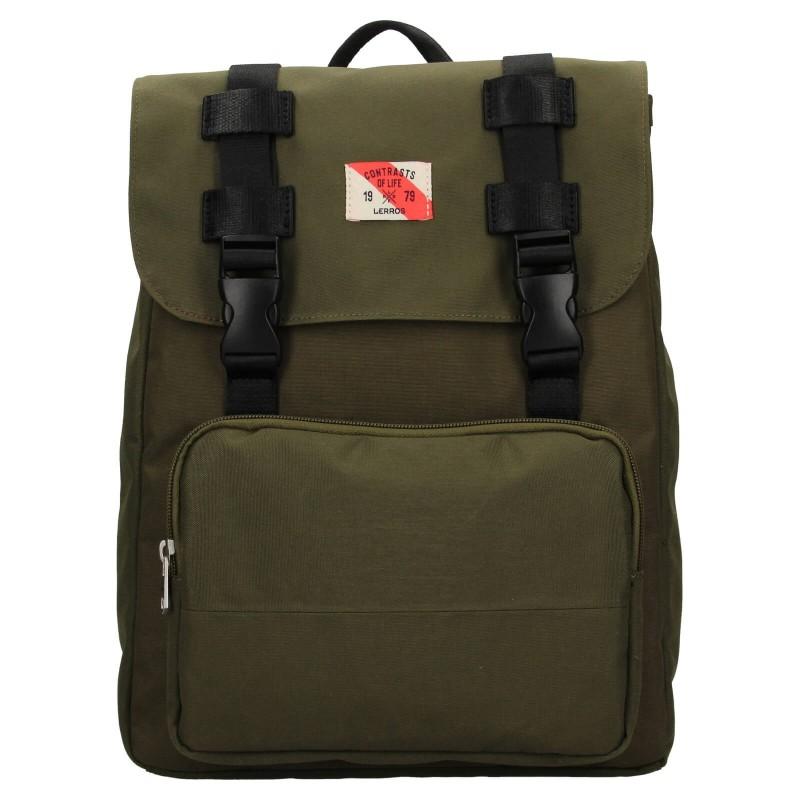 Pánský vintage batoh Lerros Charlie - zelená