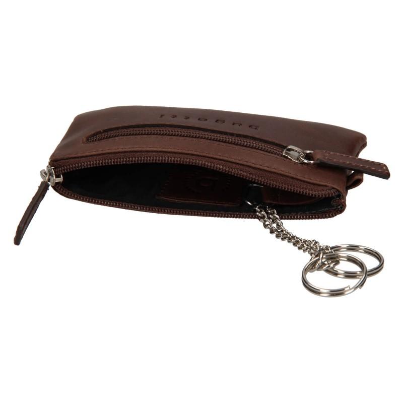 Pánská kožená klíčenka Bugatti Key - hnědá