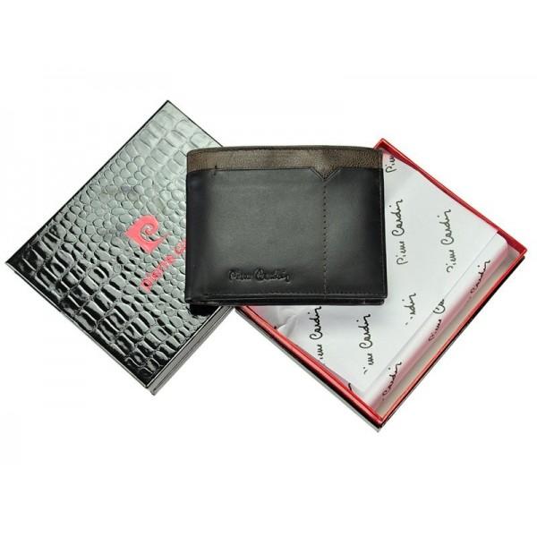 Pánská kožená peněženka Pierre Cardin Cactus - hnědá