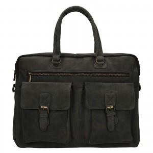 Pánská kožená taška Always Wild Oswald - černo-šedá