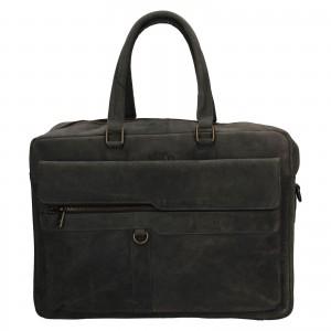 Pánská kožená taška Always Wild Alister - černo-šedá
