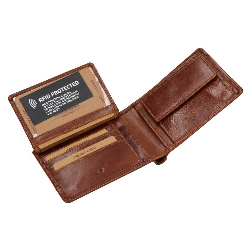 Pánská kožená peněženka Lagen Lorenc - koňak