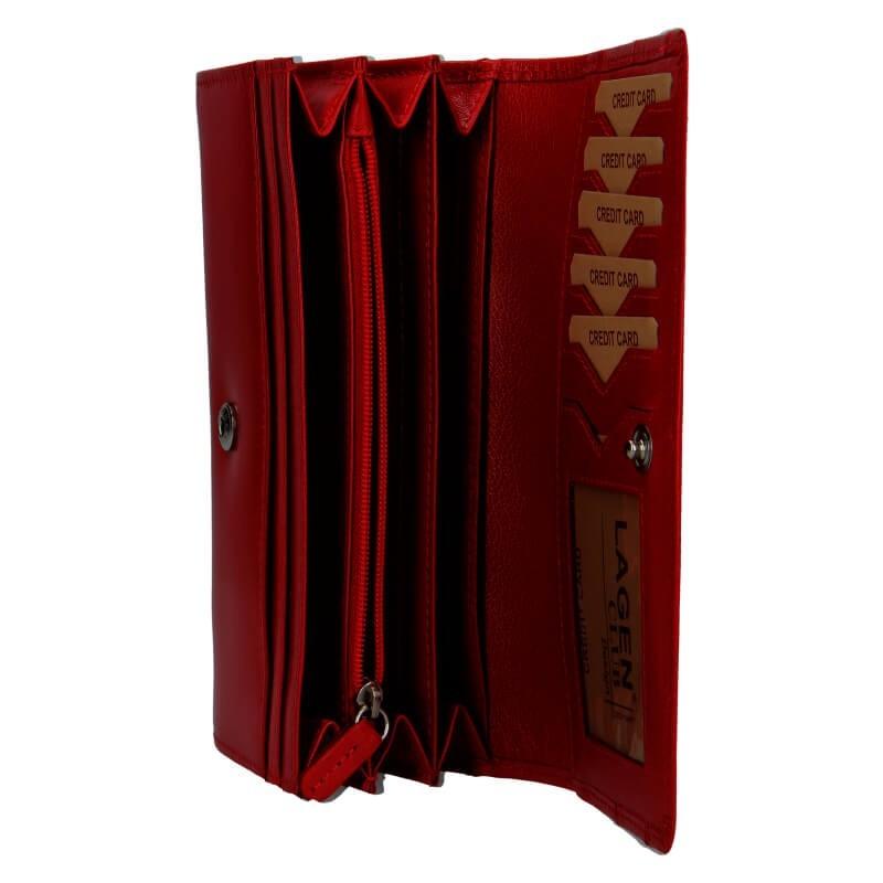 Dámská peněženka Lagen Camilla - tmavě červená