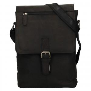 Pánská kožená taška přes rameno Greenwood Alister - černá