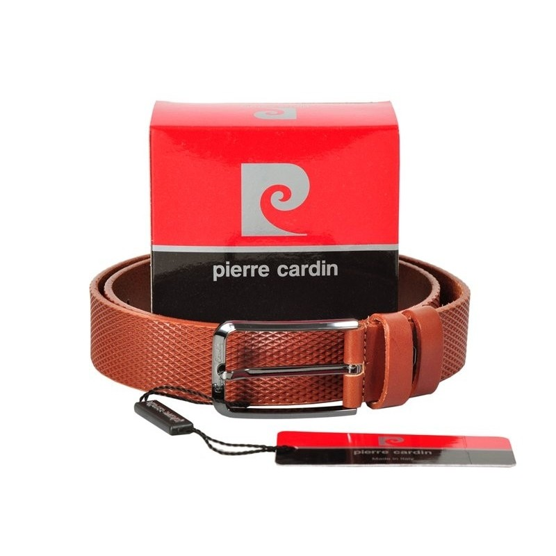 Kožený pánský hnědý opasek Pierre Cardin ENC2429